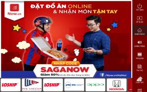 Quảng cáo Now.vn trên màn hình Saga Media