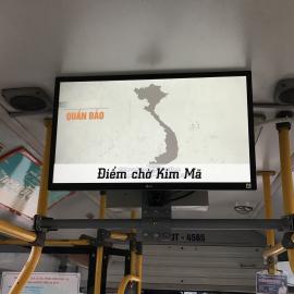 Quảng cáo LCD trên xe buýt điểm dừng Kim Mã