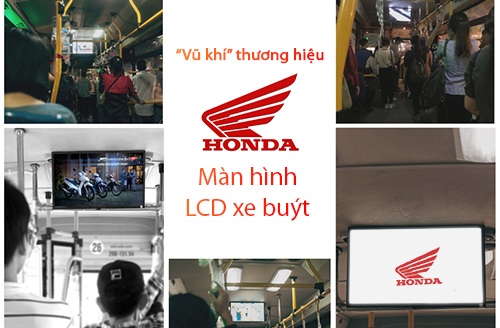Honda và vũ khí thương hiệu bí mật: màn hình LCD xe buýt